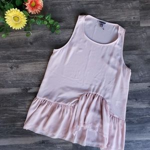 Chelsea28 | Pink Wavy Peplum Sleeves Blouse